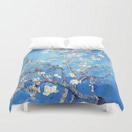 Vincent Van Gogh Almond Blossoms. Sky Blue Duvet Cover