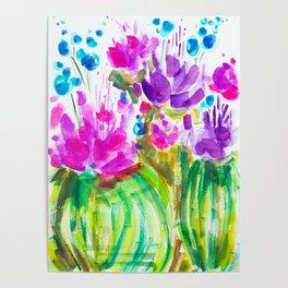 Flowerista Cactus Poster