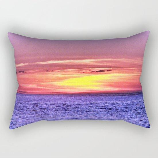 Saturated Sunset Delight Rectangular Pillow