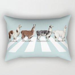 Llama The Abbey Road #1 Rectangular Pillow