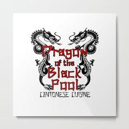 Dragon of the black pool Metal Print
