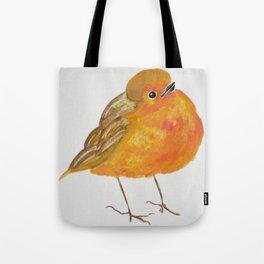Tangerine Bird Tote Bag