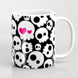 A skull in love Coffee Mug