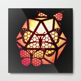 Burning Butterfly Lantern  Metal Print