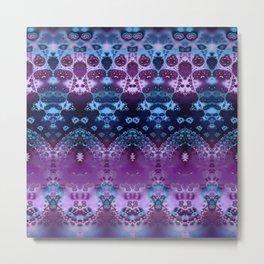 Hippy Blue and Lavender Metal Print