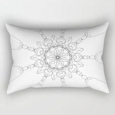 mandala - love Rectangular Pillow