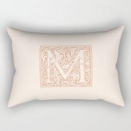 Monogram Letter M in Pink Rectangular Pillow