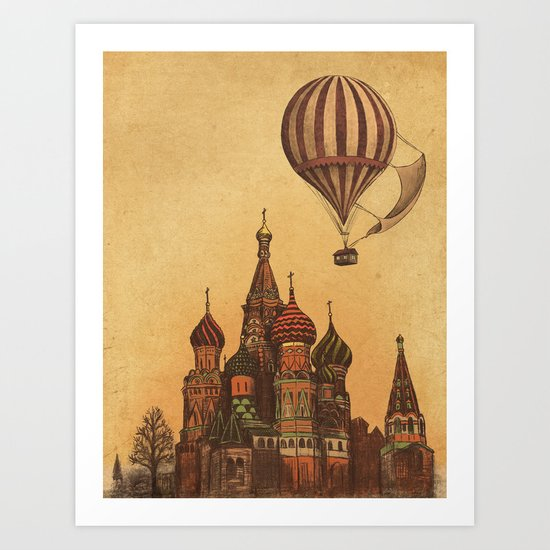Moving to Moscow Art Print