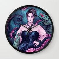 ursula Wall Clocks featuring Ursula by Angela Rizza