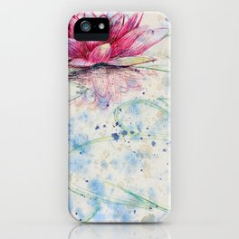 beauTEAful blooms: Water Lily iPhone Case