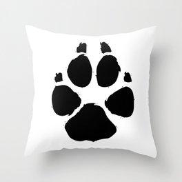 Brushy Paw Throw Pillow