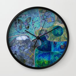 Blue - Green Collage July 2020 Wall Clock
