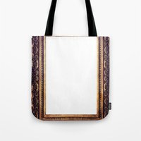 frame Tote Bags featuring Frame by GetNaked