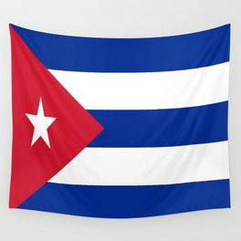 Flag of Cuba -cuban,havana, guevara,che,castro,tropical,central america,spanish,latine Wall Tapestry