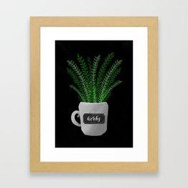 HERBS for kitchen Framed Art Print
