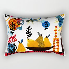 'still-life with pears ...' Rectangular Pillow