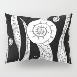 Snail Shell on Seaweed Pillow Sham