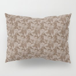 Abstract Geometrical Triangle Patterns 2 Benjamin Moore 2019 Trending Color Kona Chocolate Brown AF- Pillow Sham