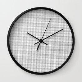 black white noir blanc squares stripes Wall Clock