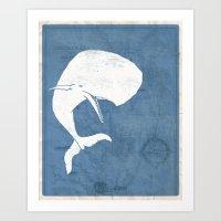 Moby Dick Poster Design Art Print