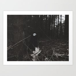 Woe in the dark forest~ Art Print