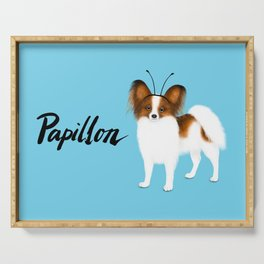 Papillon (Blue) Serving Tray
