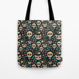 Day Of The Dead Pattern | Dia De Los Muertos Skull Tote Bag