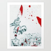 Heroin Zombies Art Print