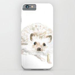 Watercolor Hedgehog Painting - Woodland Animal Art iPhone Case
