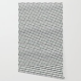 Black and white houndstooth pattern Wallpaper