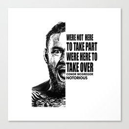 Conor Notorious Canvas Print