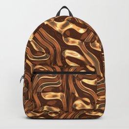 Bronze metal texture Backpack