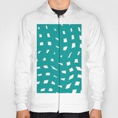 Teal and White Hoody