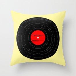 Born to Run Vinyl Throw Pillow