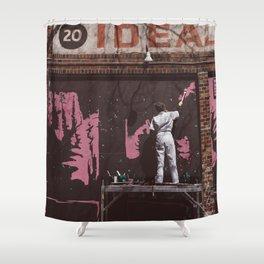 New York Street Artist II Shower Curtain