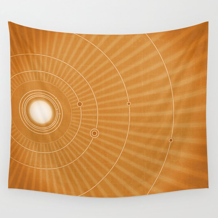 Solar System Hot Wall Tapestry