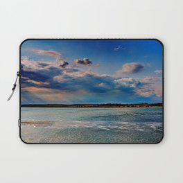 Leaving Harwich, peaceful seascape with dramatic god-rays Laptop Sleeve