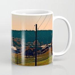 Powerlines into the distance Coffee Mug