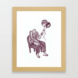 Boy with Balloon Framed Art Print