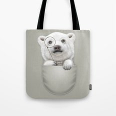 POCKET POLAR BEAR Tote Bag