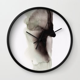 Blac Ink 2 Wall Clock