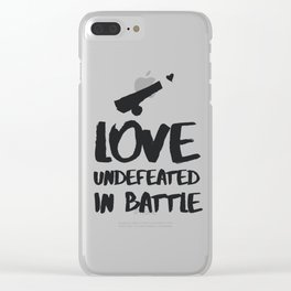 Love undefeated in battle Clear iPhone Case
