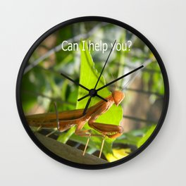 Can I help  you? Wall Clock