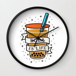 Boba Tea Ranking List Wall Clock