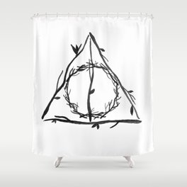 The Deathly Hallows Shower Curtain