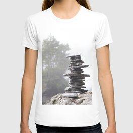 West Coast Inukshuk with Cedar Trees  #decor #society6 #buyart T-shirt