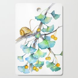 Ginkgo and A Snail Cutting Board