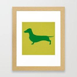 Recycled Dachshund Framed Art Print