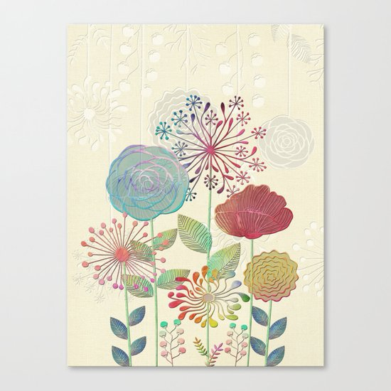 Flower Tales Canvas Print