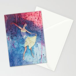 Dance It n5 - Dancer Dancing - Watercolor Painting Stationery Cards